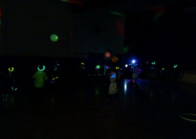 Kids camp glow party
